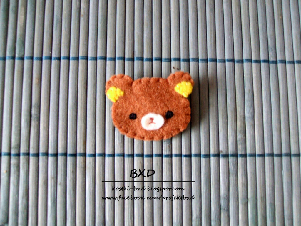 Rilakkuma - felt badge by nezstorm