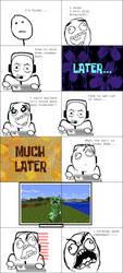 Rage Comic:Noob Plays Minecraft by NikeMan223