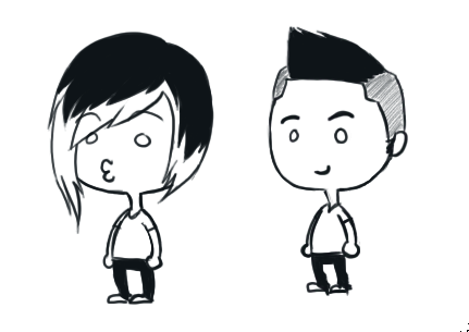 how to draw a fohawk