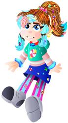 me as a sugar rush character by Gadgetgirlsteph1234