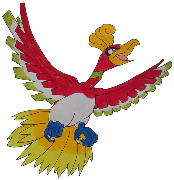 ho-oh  by Gadgetgirlsteph1234
