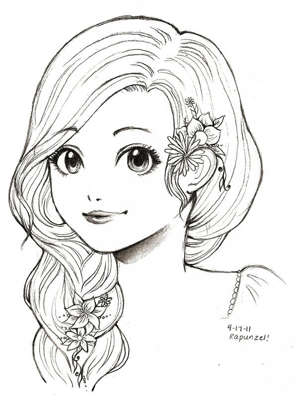 baylee jae coloring pages - rapunzel tangled by o cha ra on deviantart