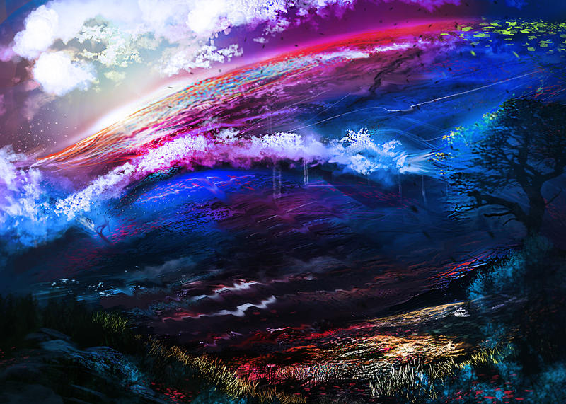 Rainbow Wave by kainthebest