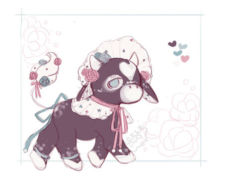 [Closed][Set Price] Rose Cow Adoptable