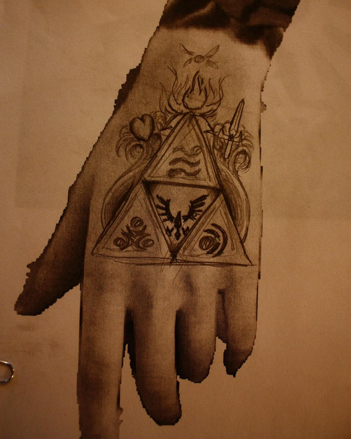 Triforce tattoo design 1 3 by bigshotartist on deviantart for Triforce hand tattoo