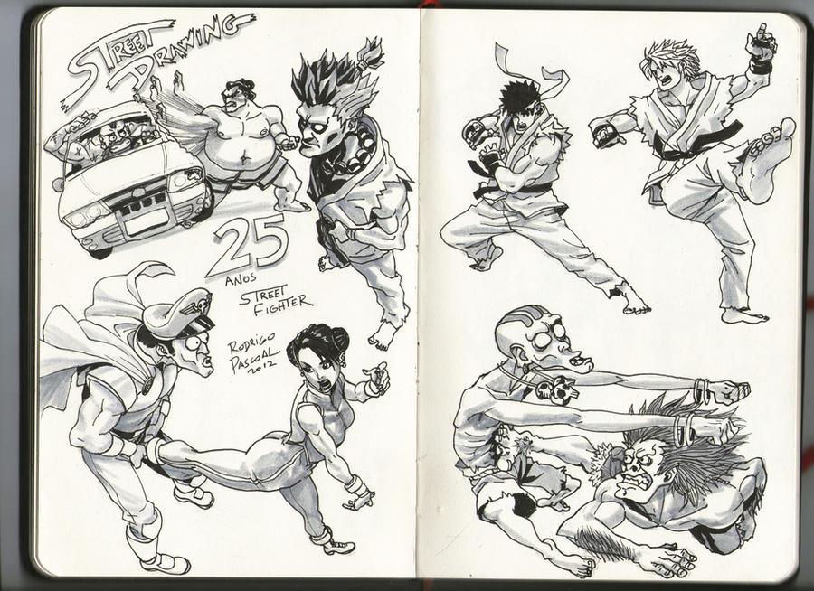 DeviantART : Street Fighter Tribute (sélection Fans-comics) - Page 2 Street_fighter_25_anos_by_superpascoal-d5er98w