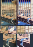 Restoration of Prints in Japanese wallpaper series