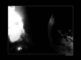 Space Explosion BW by djgeringer