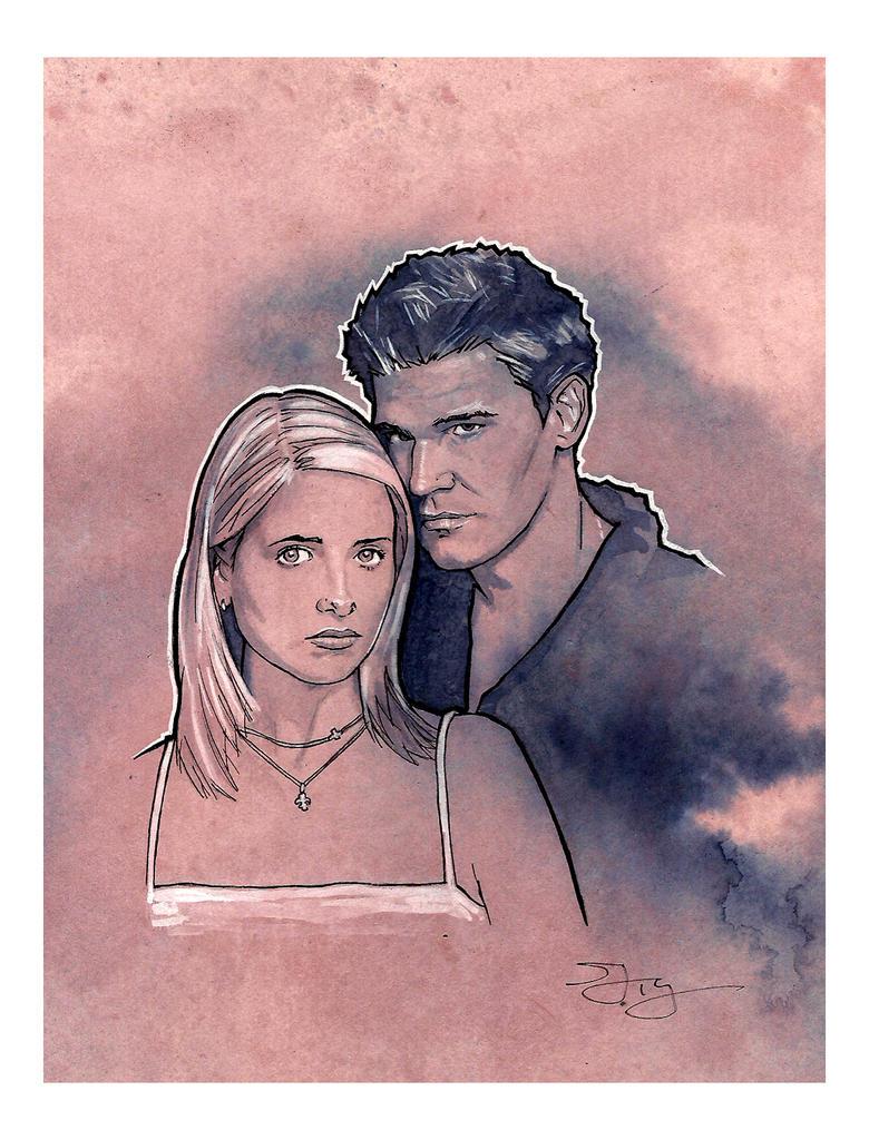 Buffy and Angel by MrPacinoHead