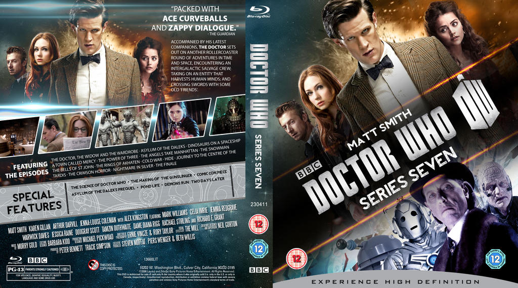 Doctor Who Series 7 Blu Ray Cover W I P By Mrpacinohead