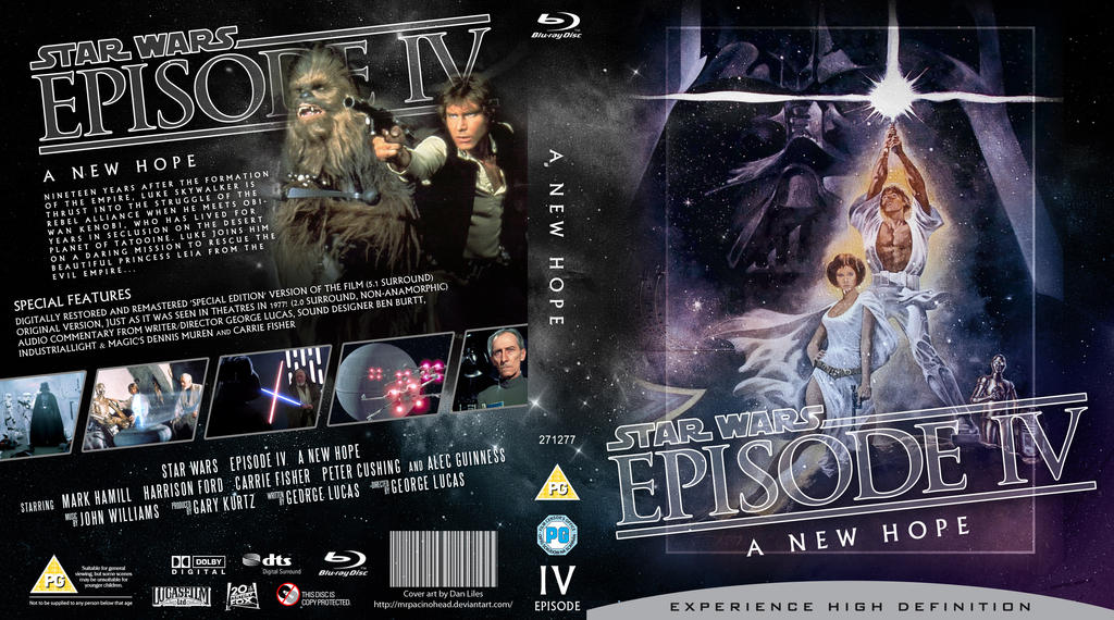 Star Wars Episode Iv Blu Ray Cover By Mrpacinohead On Deviantart