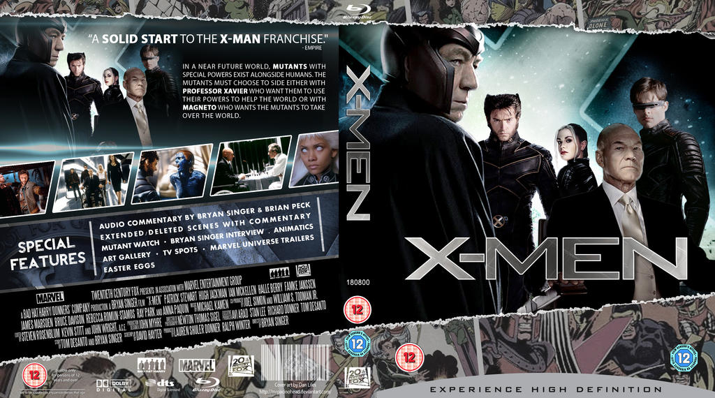 X Men Dvd Cover: X-men Blu-Ray Cover By MrPacinoHead On DeviantArt