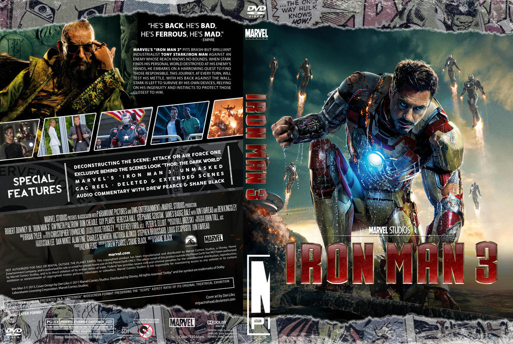 iron man 3 dvd cover art images