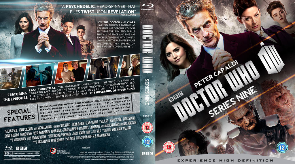 Doctor who series 9 blu ray cover updated by mrpacinohead on