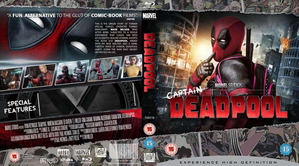 DEADPOOL Blu-Ray by MrPacinoHead