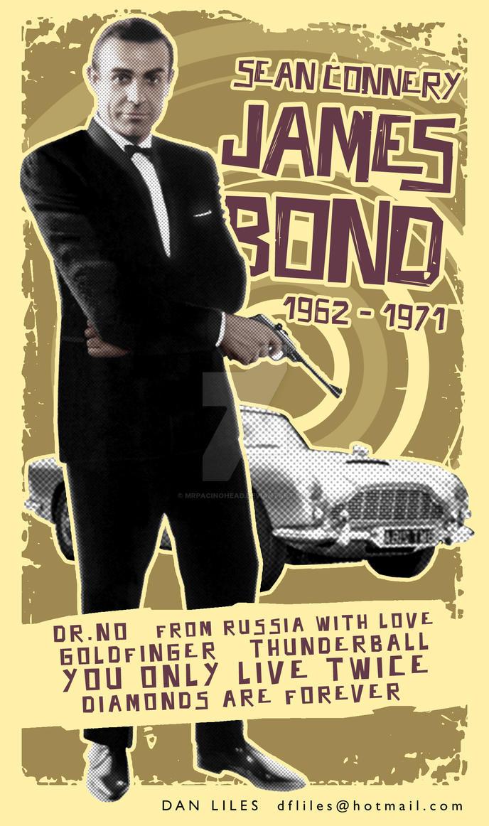 JAMES BOND  Sean Connery by MrPacinoHead on DeviantArt