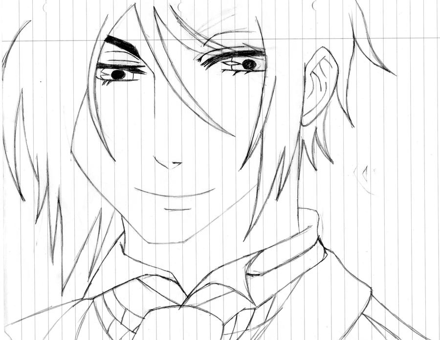 sebastian black butler chibi coloring pages sketch coloring page Gothic Anime Coloring Pages  Black Butler Sebastian Coloring Pages