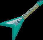 MLP EG - Sunset Shimmer RR Guitar - Vector