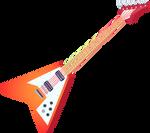 MLP EG - Sunset Shimmer Guitar - Vector