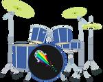 MLP EG - Pinkie Pie Drums - Vector