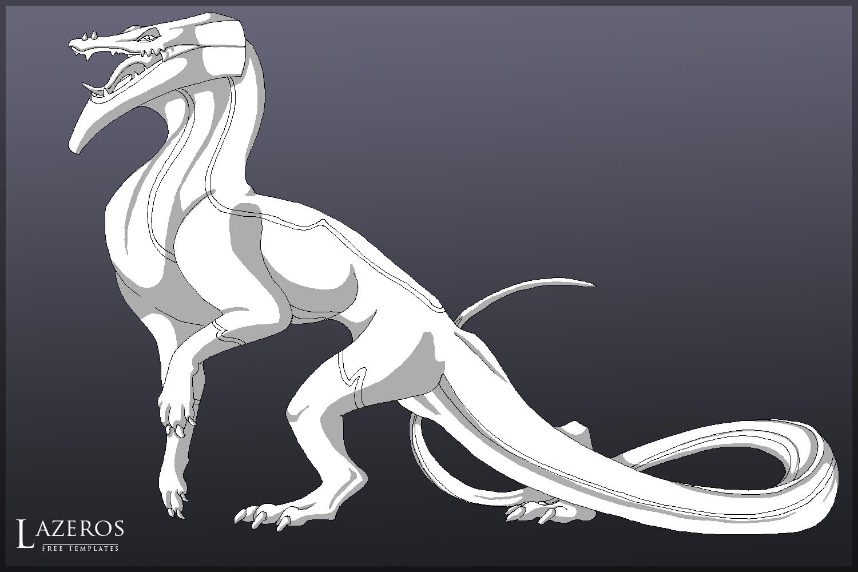 free dragon b template 1 by foxiful on deviantart