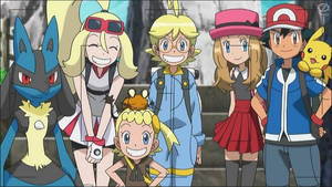 Ash and Serena, Clermont and Korina~Wow!
