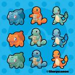 1st Gen Starters - Color Swap