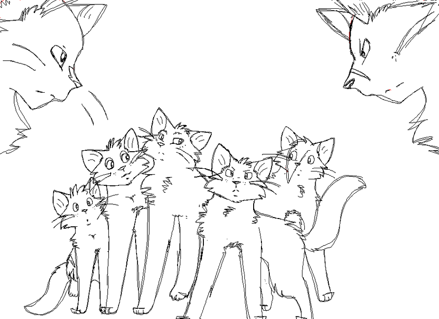 warrior cats coloring pages - warrior cats sketch by thegreatgreywolf on deviantart