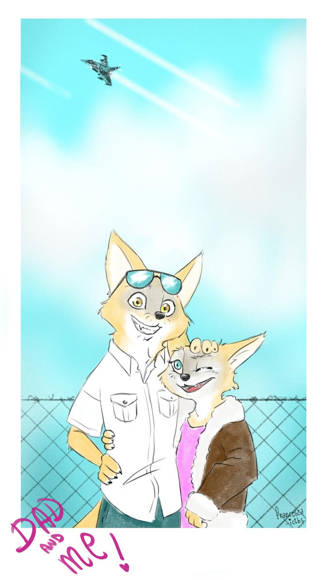 Commission-Dad and Me by Francesca-ictbs