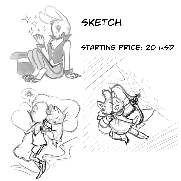 Commission Info Sketched by Pitafish