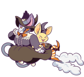 Witchmon--Purugly and Neemon
