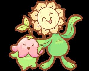 Beemon-- Lalamon and Sunflora