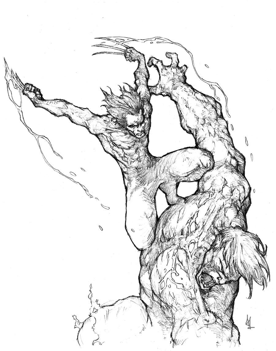 wolverine vs the hulk by alo4477 on deviantart