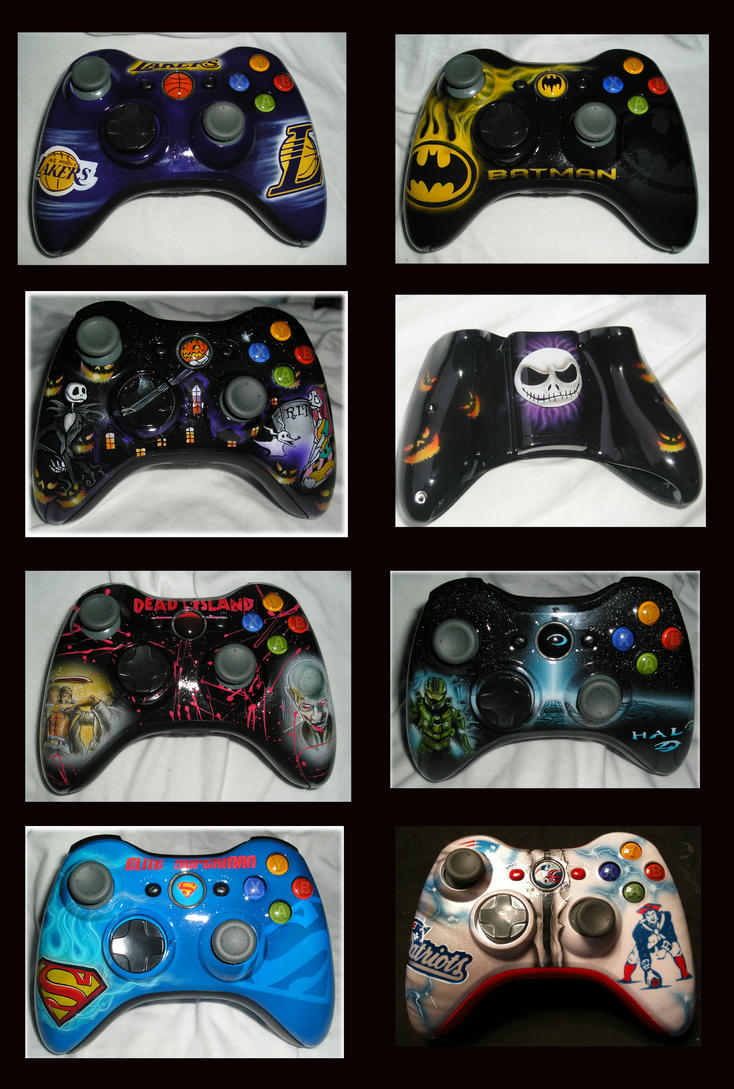 Xbox 360 controllers finished by chrisfurguson on DeviantArt
