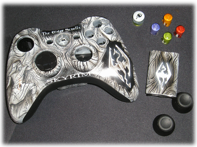 Skyrim xbox 360 controller shell kit by chrisfurguson on ...