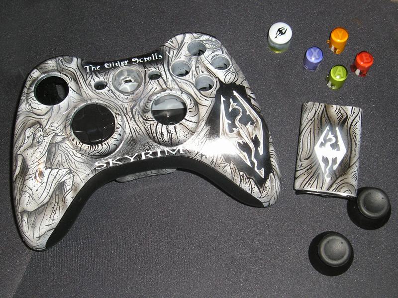 Skyrim xbox 360 controller shell kit by chrisfurguson