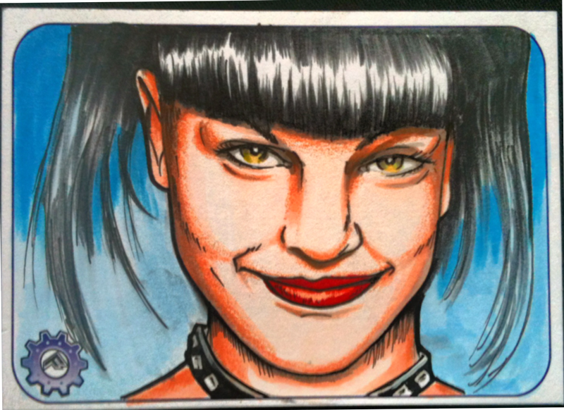 NCIS Abby Sciuto ACEO sketch card by chrisfurguson