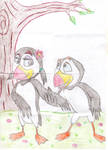 Puffin and Pearl by RogersGirlRabbit