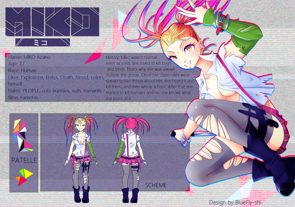 1st Adoptable: MIKO (CLOSED ) by BlueFly-shi