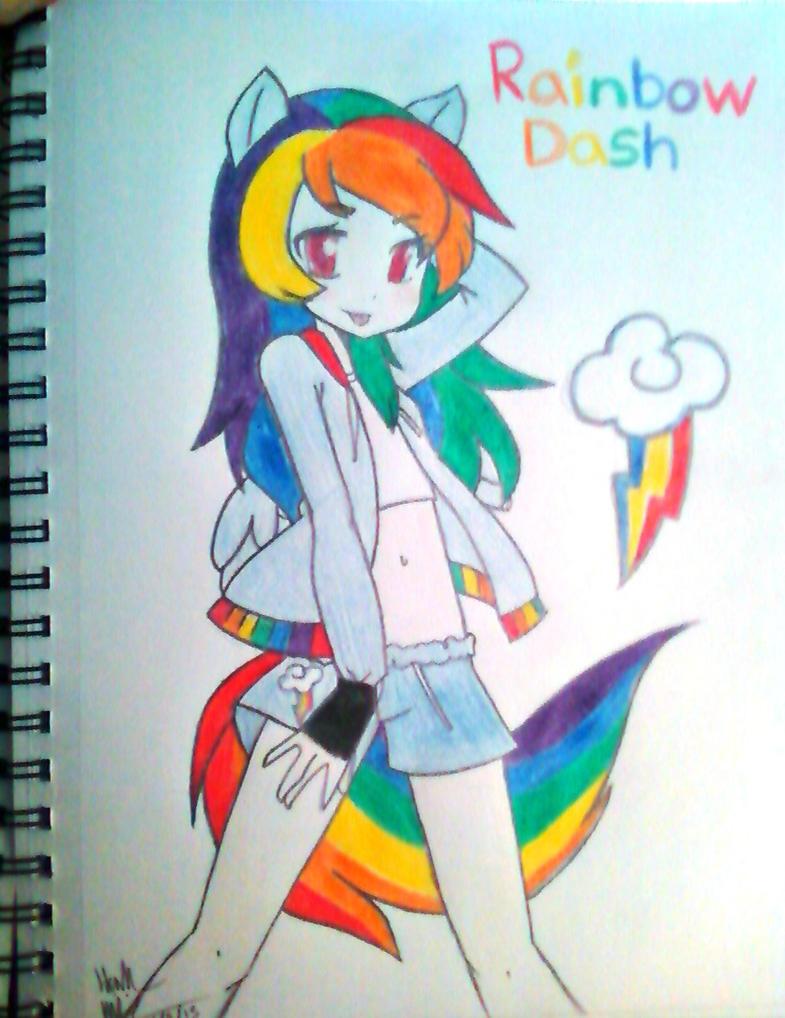 Rainbow dash as a human http hannahpeacelove deviantart com art