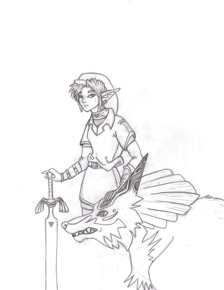 Link and midna by lilleahwest on deviantart for Midna coloring pages