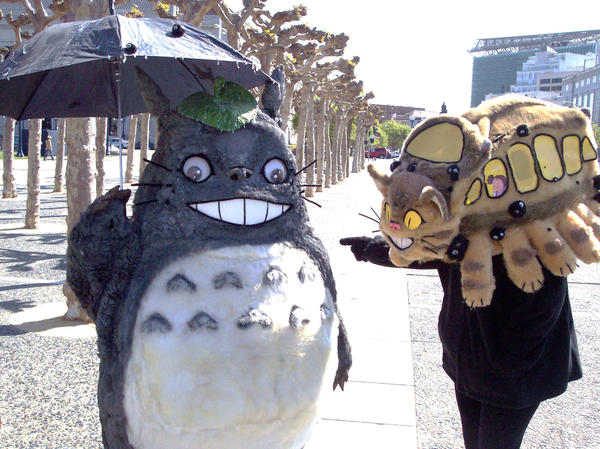 Totoro and Catbus by LilleahWest on DeviantArt