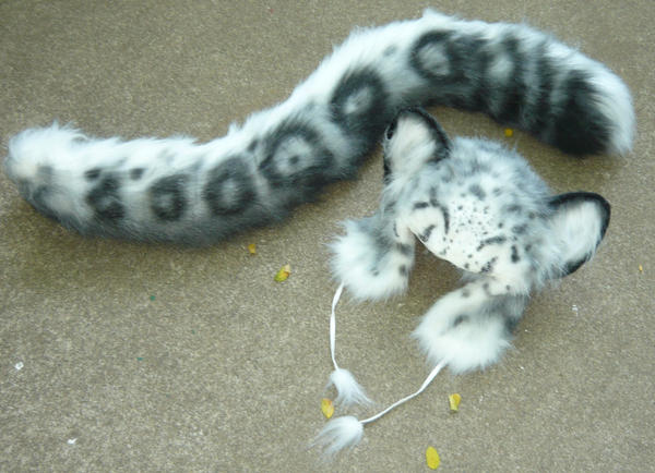 471a6a7c42b6 Snow Leopard Set By LilleahWest ... image number 21 of leopard ears and tail  costume ...