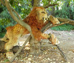 sabertooth quadsuit in a tree