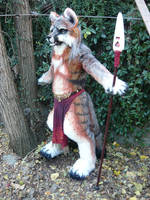gray fox warrior by LilleahWest