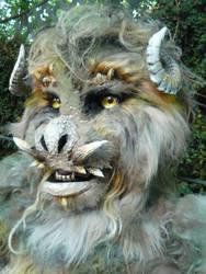 movie monster closeup
