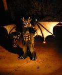 demon werewolf in the dark