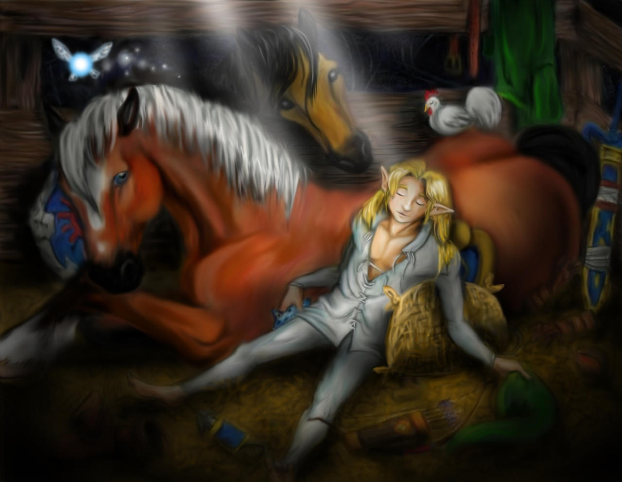 Asleep In The Barn Story By Lilleahwest On Deviantart