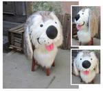 cutesy cartoony puppy