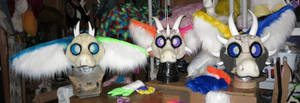 'Jumble' Angel Dragons WIP - Heads by LilleahWest